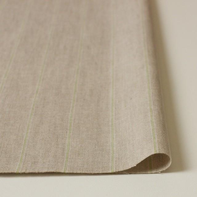 コットン&リネン×ストライプ(ベージュ&パステルグリーン)×薄キャンバス イメージ3