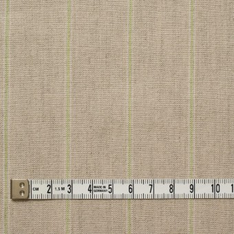 コットン&リネン×ストライプ(ベージュ&パステルグリーン)×薄キャンバス サムネイル4