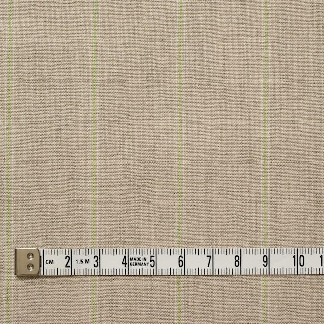 コットン&リネン×ストライプ(ベージュ&パステルグリーン)×薄キャンバス イメージ4