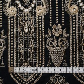 コットン×幾何学模様(ブラック)×ローン刺繍_全2色 サムネイル2