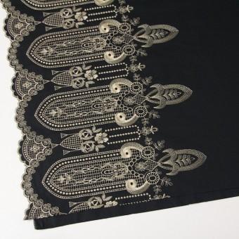 コットン×幾何学模様(ブラック)×ローン刺繍_全2色 サムネイル3