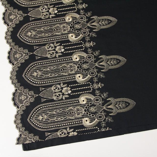 コットン×幾何学模様(ブラック)×ローン刺繍_全2色 イメージ3