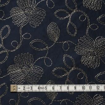 ポリエステル×フラワー(ダークネイビー)×タフタ刺繍 サムネイル4