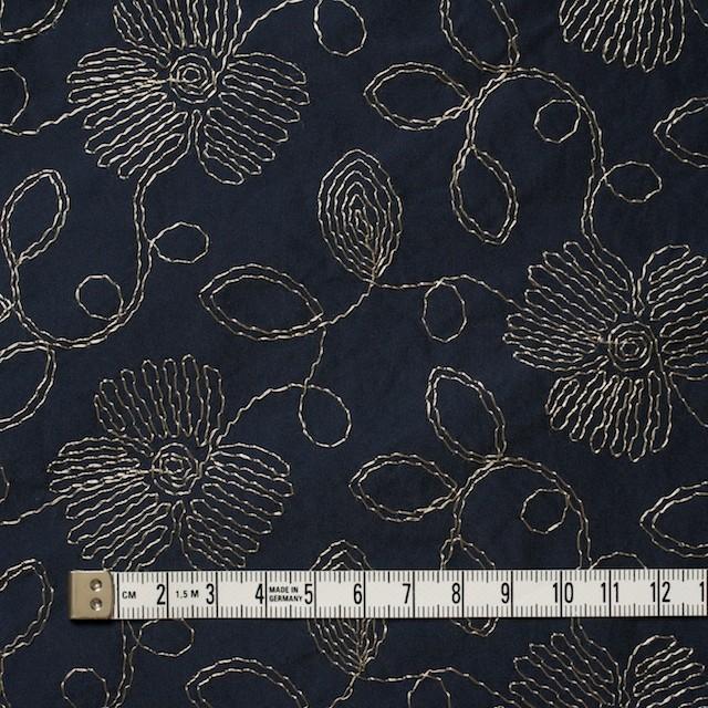 ポリエステル×フラワー(ダークネイビー)×タフタ刺繍 イメージ4