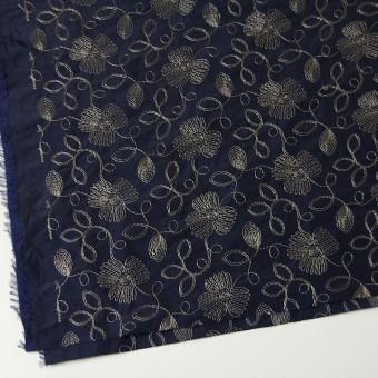 ポリエステル×フラワー(ダークネイビー)×タフタ刺繍 サムネイル2