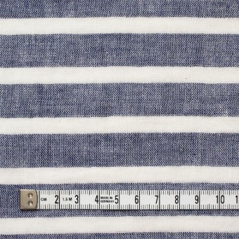 コットン×ボーダー(ブルー)×Wガーゼ_全2色 サムネイル4