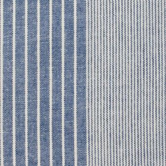 コットン×ストライプ(キナリ&ブルー)×ダンガリー サムネイル1