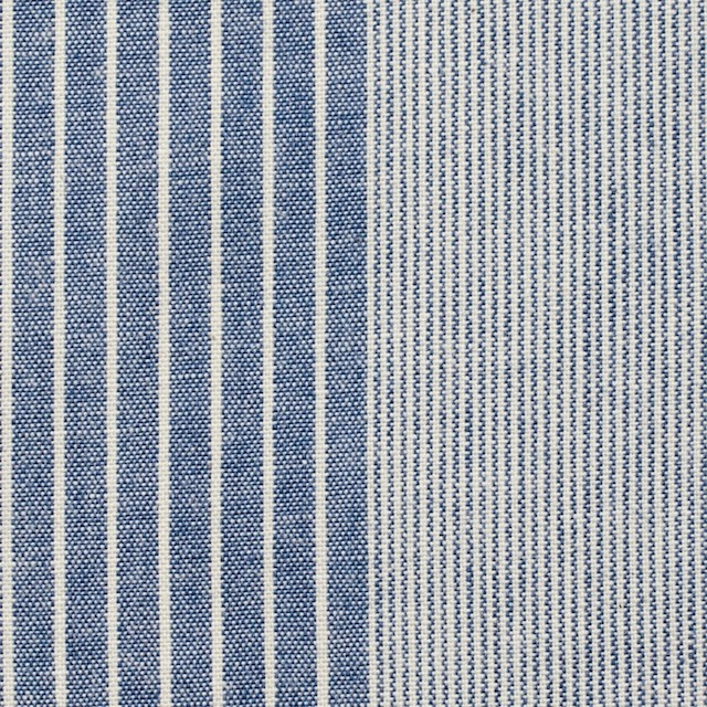 コットン×ストライプ(キナリ&ブルー)×ダンガリー イメージ1