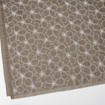コットン×フラワー(カーキベージュ)×ローンリップル刺繍_全3色 サムネイル2
