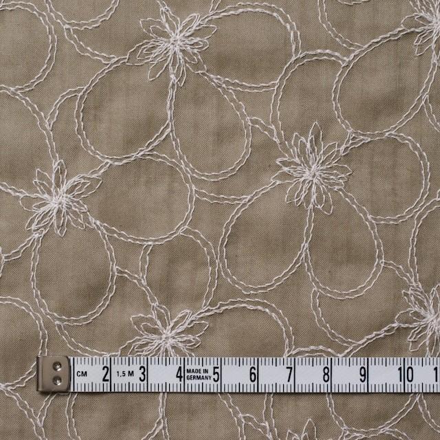 コットン×フラワー(カーキベージュ)×ローンリップル刺繍_全3色 イメージ4