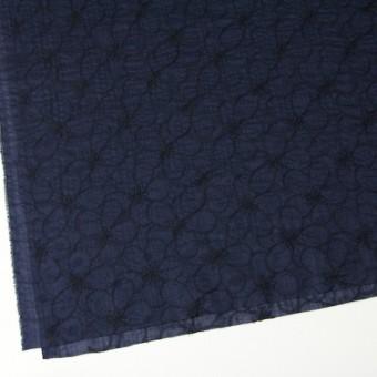 コットン×フラワー(ネイビー)×ローンリップル刺繍_全3色 サムネイル2