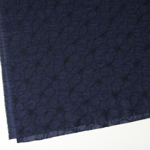 コットン×フラワー(ネイビー)×ローンリップル刺繍_全3色 イメージ2