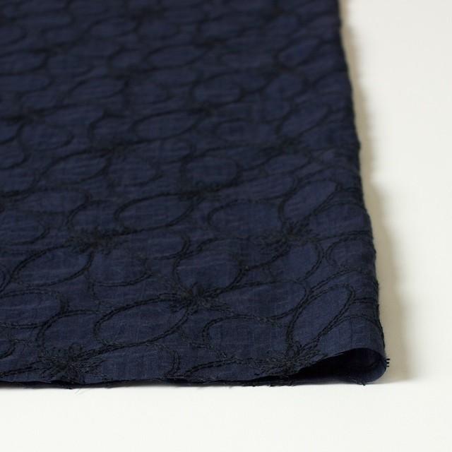 コットン×フラワー(ネイビー)×ローンリップル刺繍_全3色 イメージ3