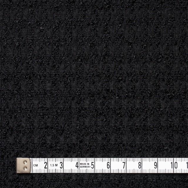 ポリエステル×チェック(ブラック)×ジャガード イメージ4