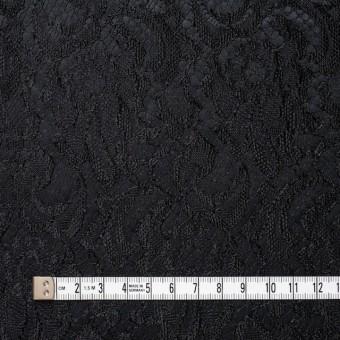 ポリエステル×フラワー(ブラック)×サテン&レース_イタリア製 サムネイル4