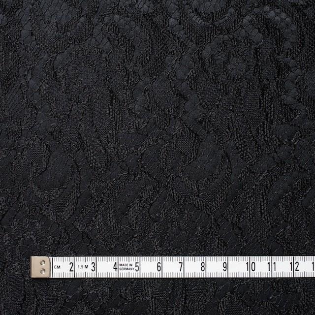 ポリエステル×フラワー(ブラック)×サテン&レース_イタリア製 イメージ4