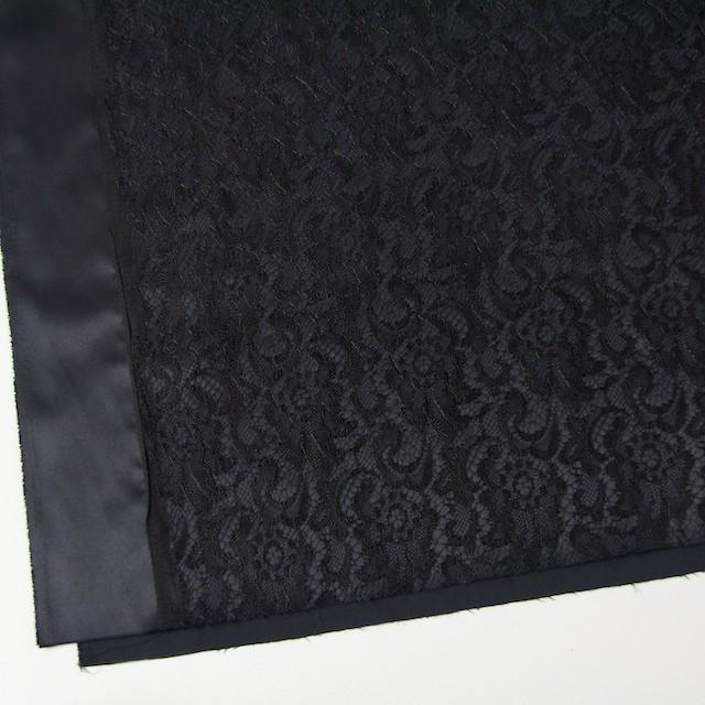ポリエステル×フラワー(ブラック)×サテン&レース_イタリア製 イメージ2