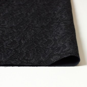 ポリエステル×フラワー(ブラック)×サテン&レース_イタリア製 サムネイル3