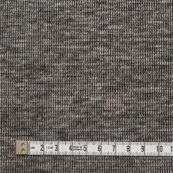 リネン&コットン×ミックス(ブラウン)×スムースニット_全2色 サムネイル4