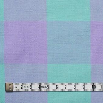 コットン&リネン×ブロックチェック(エメラルドグリーン)×シーチングワッシャー_全3色 サムネイル4