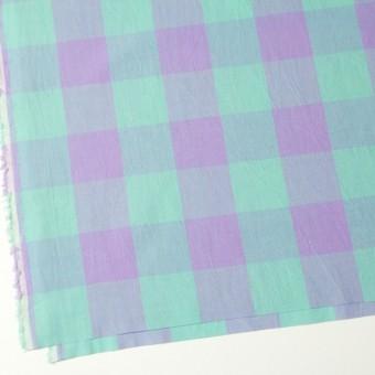 コットン&リネン×ブロックチェック(エメラルドグリーン)×シーチングワッシャー_全3色 サムネイル2