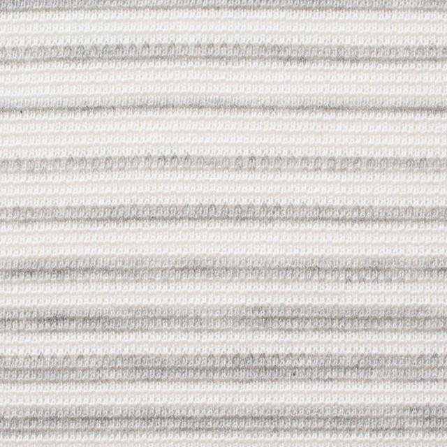 コットン×ボーダー(グレー)×ボーダー編ニット イメージ1