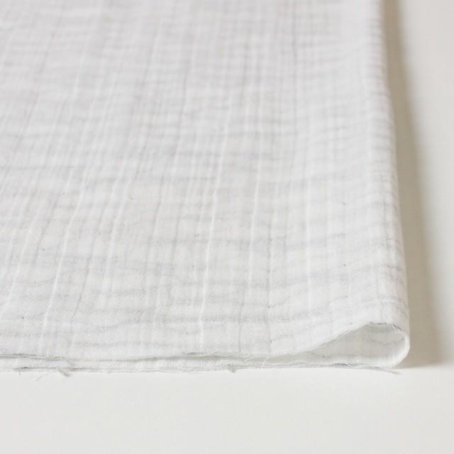 コットン×ウェーブ(オフホワイト&グレー)×Wガーゼ_全4種 イメージ3