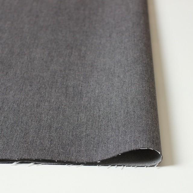 コットン&ポリウレタン×無地(グレー)×薄チノクロスストレッチ イメージ3