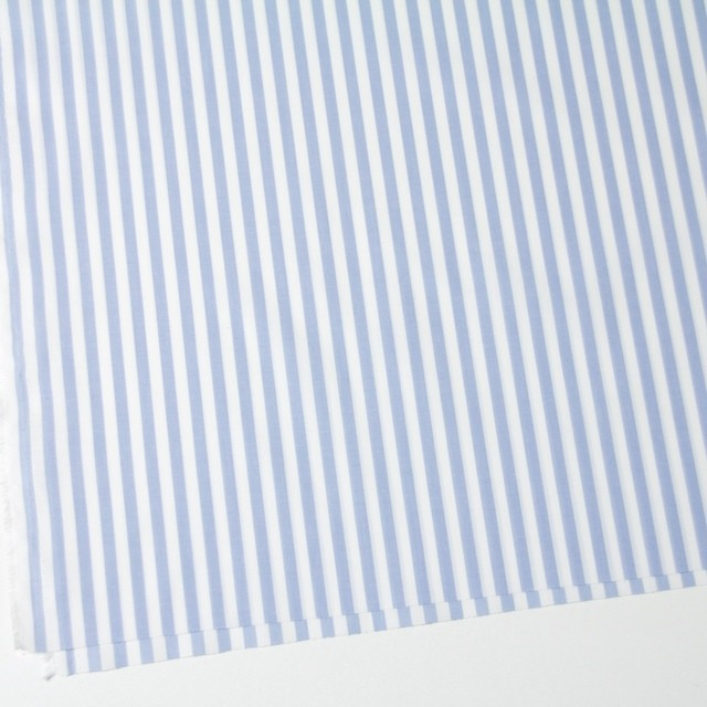 コットン×ストライプ(サックス)×ブロード_全5色 イメージ2