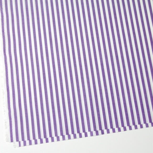 コットン×ストライプ(パープル)×ブロード_全5色 イメージ2