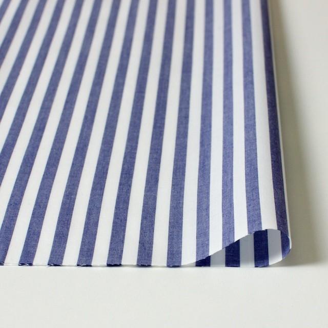 コットン×ストライプ(スレートブルー)×ブロード_全5色 イメージ3