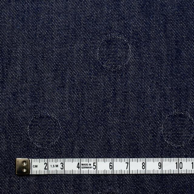 コットン×サークル(インディゴ)×デニムジャガード イメージ4