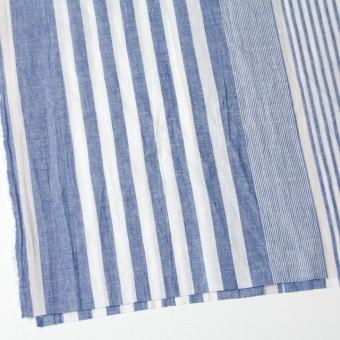 コットン&リネン×ストライプ(ブルー&ライトグレー)×薄シーチングワッシャー_全5柄 サムネイル2