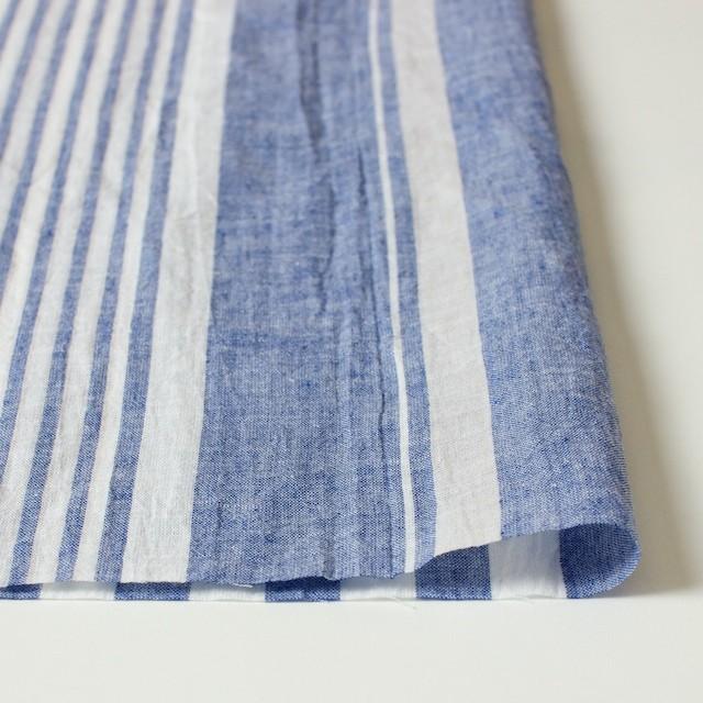 コットン&リネン×ストライプ(ブルー&ライトグレー)×薄シーチングワッシャー_全5柄 イメージ3