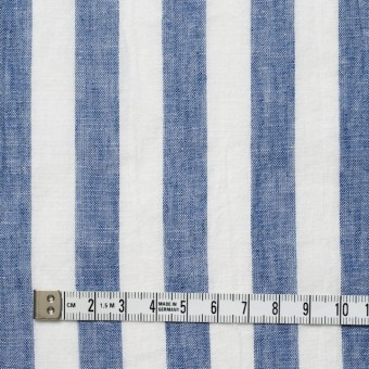 コットン&リネン×ストライプ(ブルー&ライトグレー)×薄シーチングワッシャー_全5柄 サムネイル4