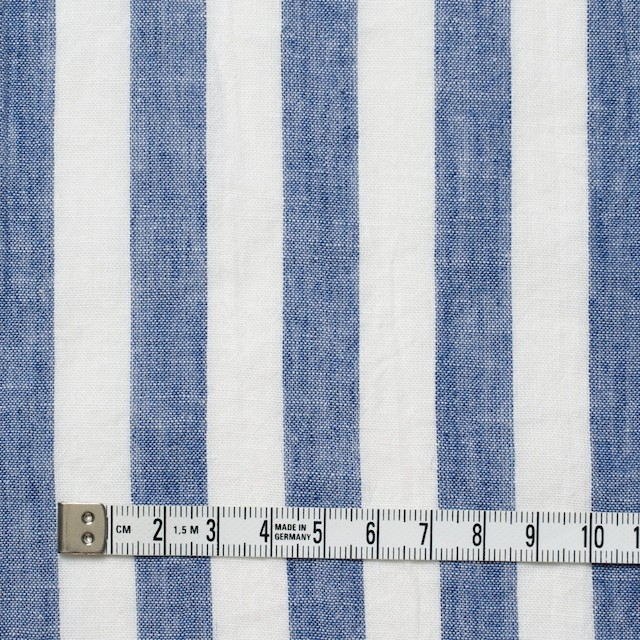 コットン&リネン×ストライプ(ブルー&ライトグレー)×薄シーチングワッシャー_全5柄 イメージ4