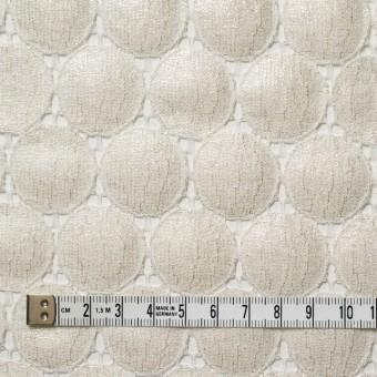 キュプラ&ナイロン×輪模様(オフホワイト+シルバーラメ箔)×ラッセルレース_全2色 サムネイル4