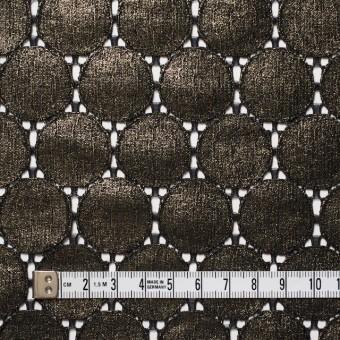 キュプラ&ナイロン×輪模様(ブラック+ゴールドラメ箔)×ラッセルレース_全2色 サムネイル4