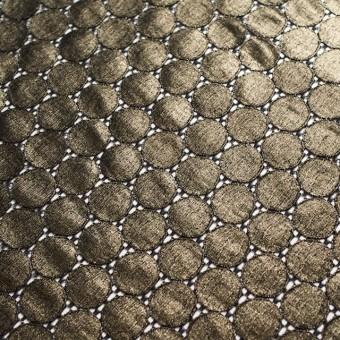 キュプラ&ナイロン×輪模様(ブラック+ゴールドラメ箔)×ラッセルレース_全2色 サムネイル5