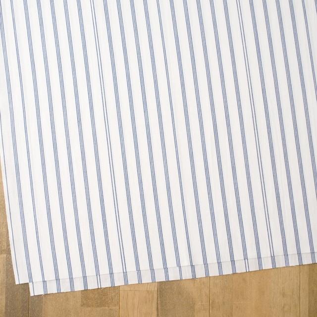 コットン×ストライプ(オフホワイト&ブルー)×ブロード イメージ2