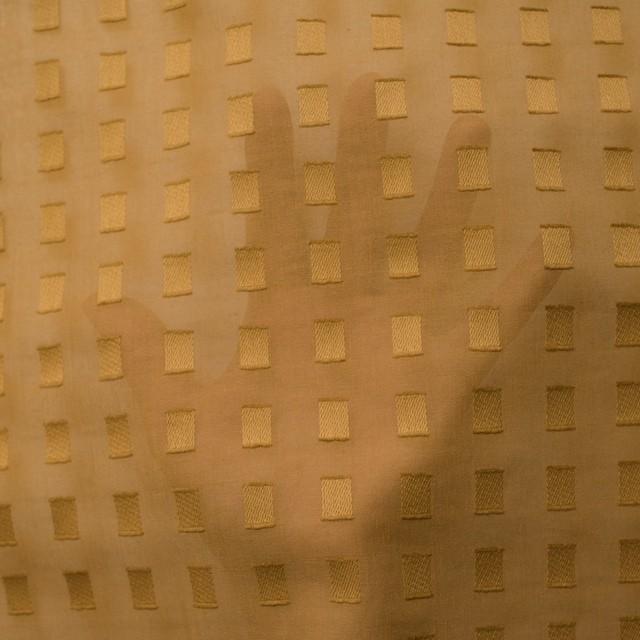 コットン×スクエア(マスタード)×ボイルジャガード_全6色 イメージ5