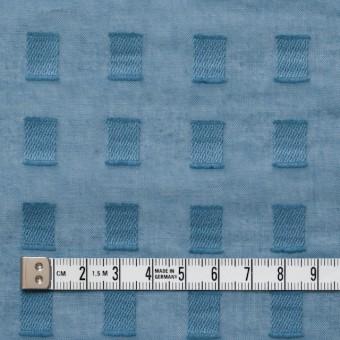 コットン×スクエア(グレイッシュブルー)×ボイルジャガード_全6色 サムネイル4