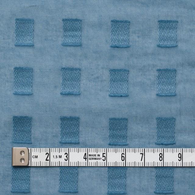 コットン×スクエア(グレイッシュブルー)×ボイルジャガード_全6色 イメージ4