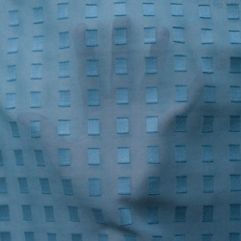 コットン×スクエア(グレイッシュブルー)×ボイルジャガード_全6色 サムネイル5