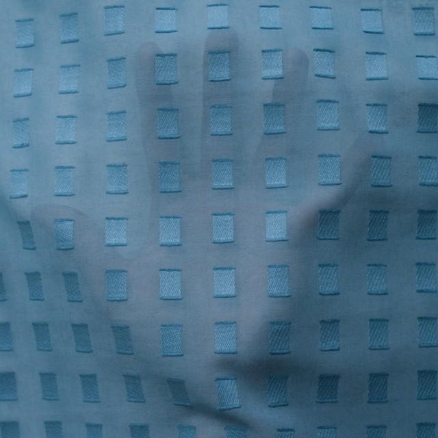 コットン×スクエア(グレイッシュブルー)×ボイルジャガード_全6色 イメージ5