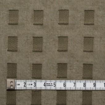 コットン×スクエア(カーキグリーン)×ボイルジャガード_全6色 サムネイル4
