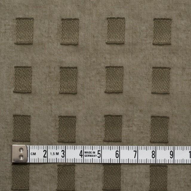 コットン×スクエア(カーキグリーン)×ボイルジャガード_全6色 イメージ4