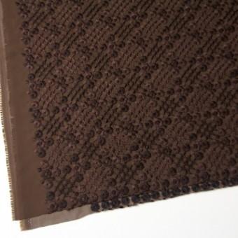 ポリエステル×フラワー(ダークブラウン)×ジョーゼット刺繍 サムネイル2