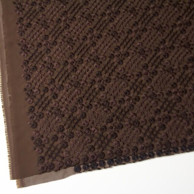 ポリエステル×フラワー(ダークブラウン)×ジョーゼット刺繍 イメージ2