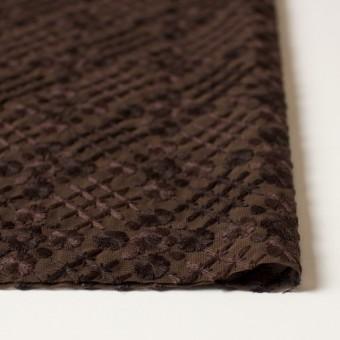 ポリエステル×フラワー(ダークブラウン)×ジョーゼット刺繍 サムネイル3